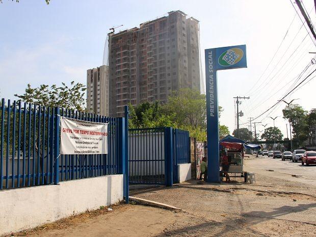 Unidade do INSS localizada na Zona Centro-Sul de Manaus (Foto: Diego Toledano/G1 AM)