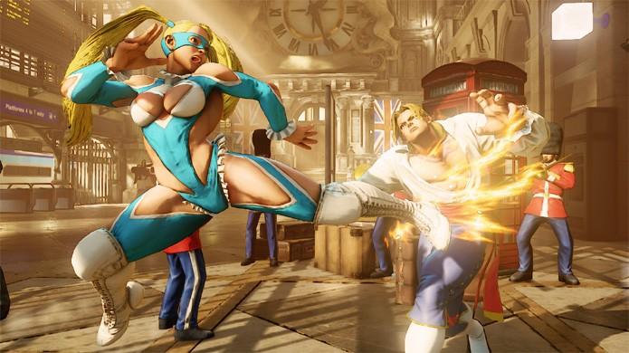 Rainbow Mika traz um pouco de luta-livre em Street Fighter 5 durante luta contra Vega (Foto: Divulgação)