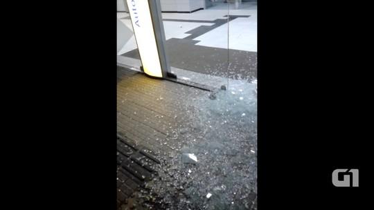 Alvos de quadrilha, bancos são atacados no Oeste potiguar; veja vídeo