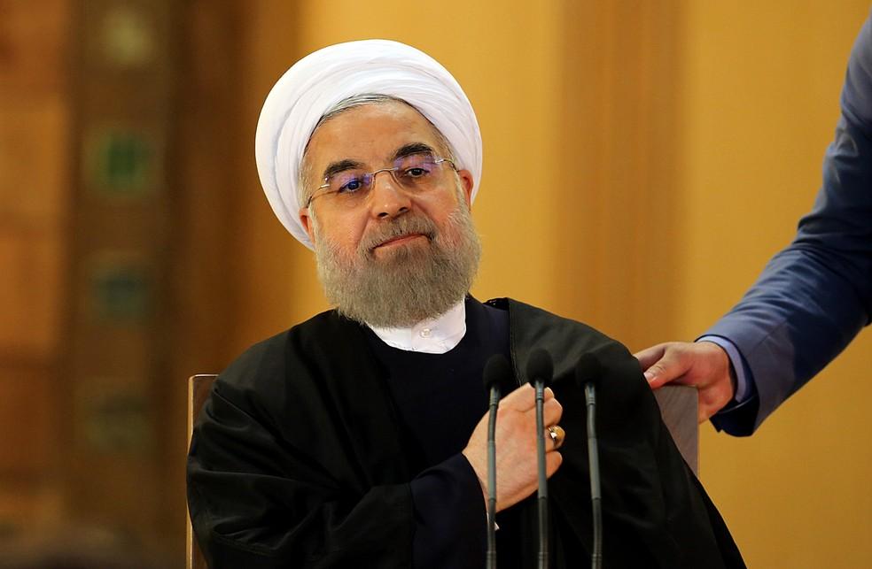 Presidente do Irã, Hassan Rouhani; para Trump, é preciso acabar com acordo nuclear com o país (Foto: Atta Kenare/AFP)
