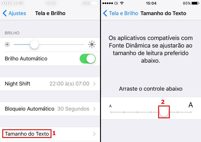 Aumentando o tamanho do texto em aparelhos menores(Foto: Reprodução/Edivaldo Brito)