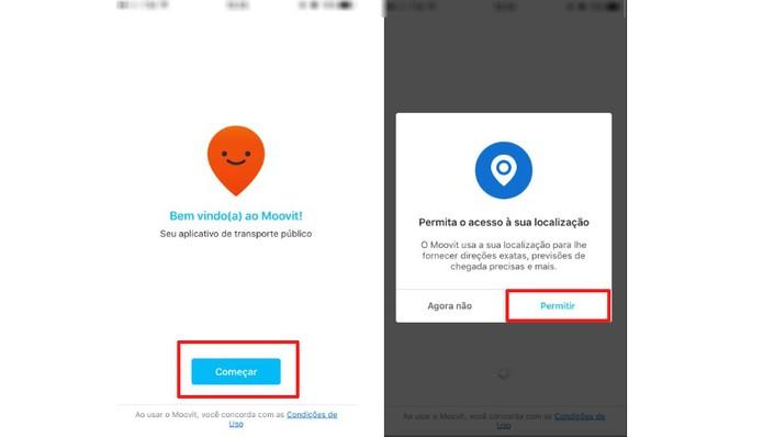 Acesse o app e permita o acesso à sua localização (Foto: Reprodução/Camila Peres)