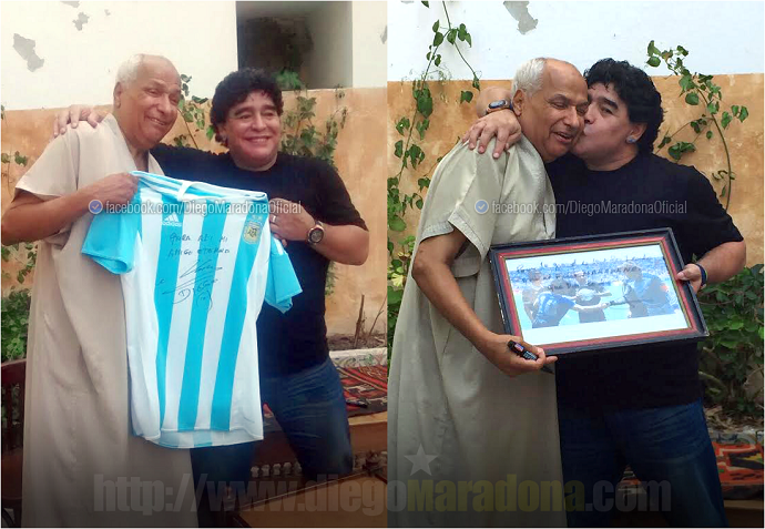 Maradona Tunísia árbitro Argentina x Inglaterra