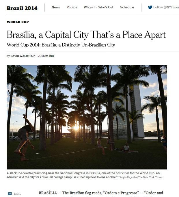 NYT fez reportagem sobre a organização e arquitetura de Brasília