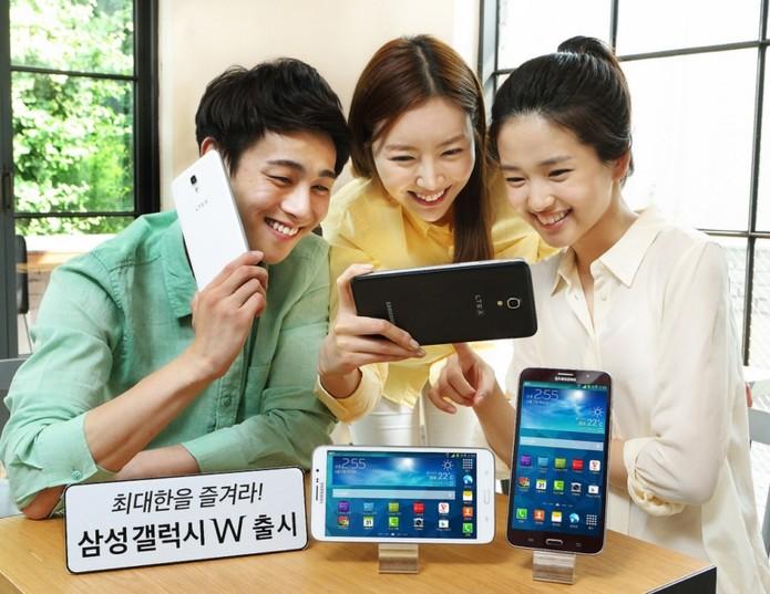 Galaxy W é um smartphone da Samsung com tela de 7 polegadas e Android Jelly Bean (Foto: Divulgação/Samsung)