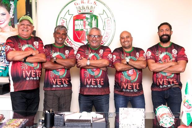 Nilton Perácio, Leandrinho Soares, Jayder Soares, Dudu Azevedo e Fabio Ricardo (Foto: Anderson Barros / EGO)