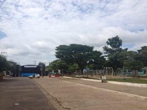 Praça Nossa Senhora Aparecida, em Vilhena (Foto: Jonatas Boni/G1)