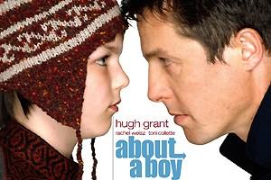 Nicholas ao ladod e Hugh Grant no longa Um Grande Garoto (Foto: Reprodução)