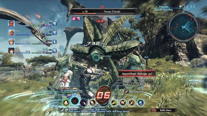 Xenoblade Chronicles X: dedique um tempo para aprender o sistema de combate (Foto: Divulgação/Nintendo)