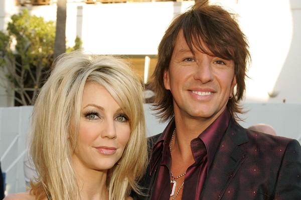 Quando Richie Sambora, guitarrista do Bon Jovi, ouviu da imprensa que sua mulher, a atriz Heather Locklear, tinha entrado com o pedido de divórcio, ele negou e ainda afirmou que tinham planos para o dia dos namorados. Mal sabia ele que era verdade (Foto: Getty Images)