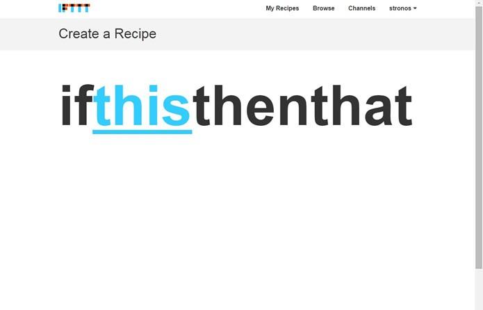 """Aperte na palavra em azul """"This"""" para escolher o primeiro serviço da receita (Foto: Reprodução/Daniel Ribeiro)"""