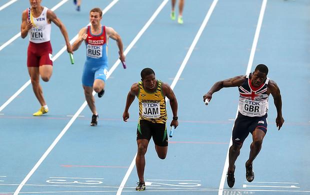 Oshane Bailey jamaica revezamento mundial de atletismo (Foto: Agência Getty Images)