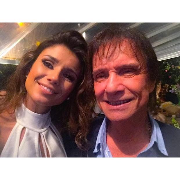 Paula Fernandes e Roberto Carlos (Foto: Reprodução/Instagram)