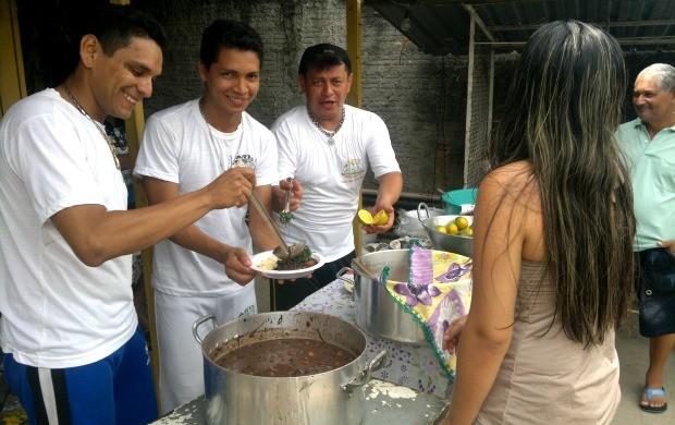 Feijoada de capoeiristas de Manaus (Foto: Anderson Silva/Globoesporte.com)