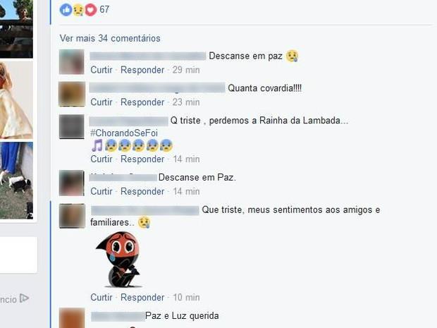 Fãs prestaram homenagens na última postagem de Loalwa (Foto: Facebook/Reprodução)