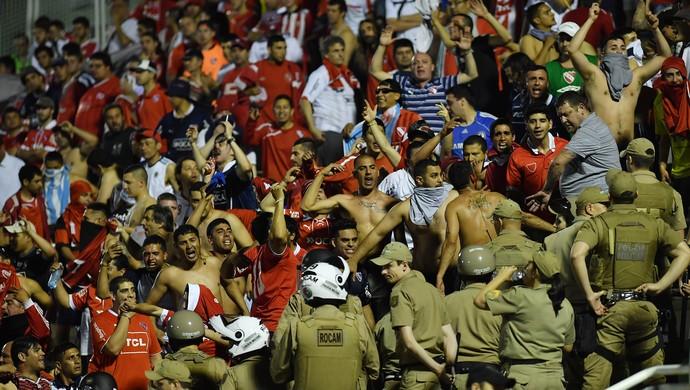 Torcida Independiente Chapecoense (Foto: Nelson Almeida / AFP)