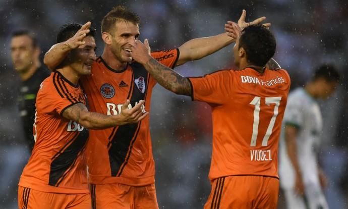 Ivan Alonso comemora gol do River Plate (Foto: Reprodução do site oficial do River Plate)
