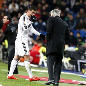 James Rodriguez, Real Madrid X Sevilla (Foto: Agência EFE)
