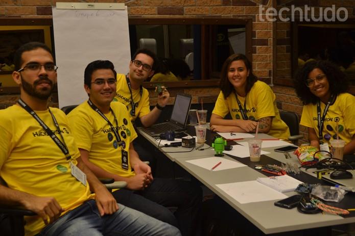 Grupo 7 - Hackathon Globo (Foto: Isabela Giantomaso / TechTudo)