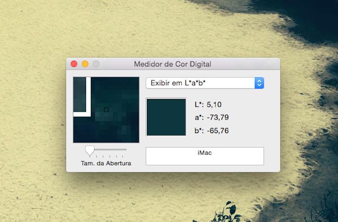 Ferramenta Medidor de Cor Digital do Mac OS X (Foto: Reprodução/Marvin Costa)