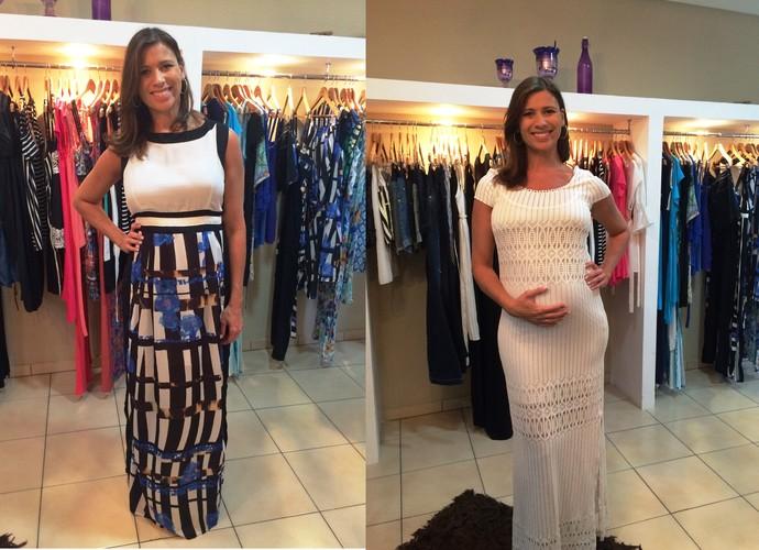 Vestidos longos são ótimas opções para as mamães (Foto: RBS TV/Divulgação)