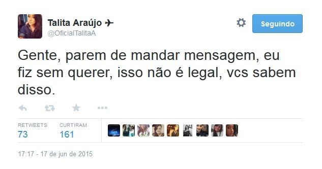 Talita Araujo (Foto: Twitter / Reprodução)