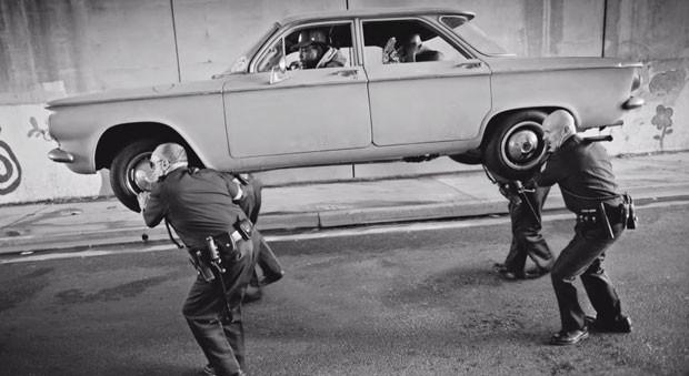 Kendrick Lamar no clipe de 'Alright' (Foto: Divulgação)