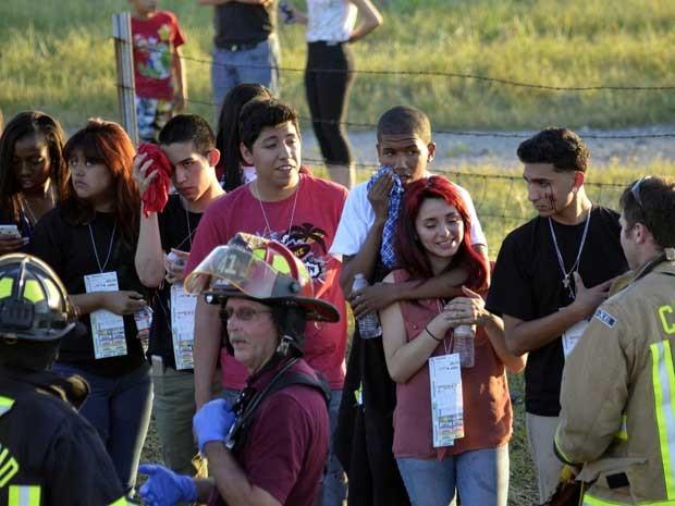 Ônibus transportava estudantes do ensino médio da área metropolitana de Los Angeles para a Universidade Estadual de Humboldt, em Arcata. (Foto: Dan Reidel / Chico Interprise Record / via Reuters)