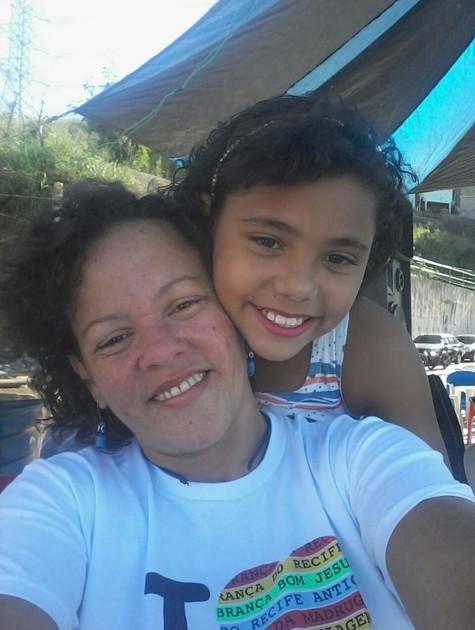 Kátia com a filha, Ana Beatriz (Foto: Arquivo pessoal)