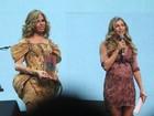 Grazi Massafera exibe barriguinha de grávida em premiação no Rio
