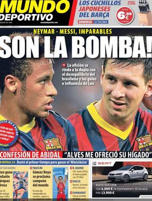Jornal destaca parceria entre Messi e Neymar (Foto: Reprodução / Mundo Deportivo)