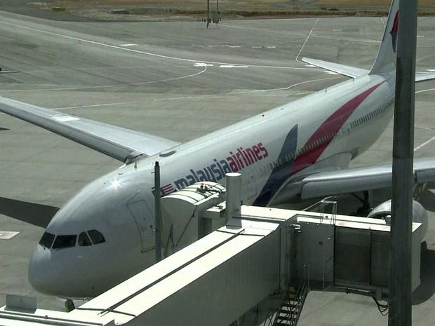 GNews - Avião da Malaysia Airlines (Foto: globonews)