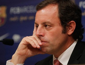 sandro rosell barcelona coletiva (Foto: Ag&#234;ncia Reuters)