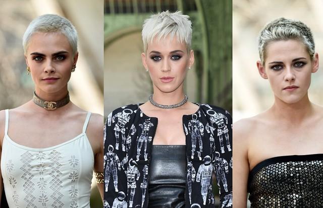 Pixie platinado é o cabelo da vez entre celebridades como Cara Delevingne, Katy Perry e Kristen Stewart (Foto: Getty Images)