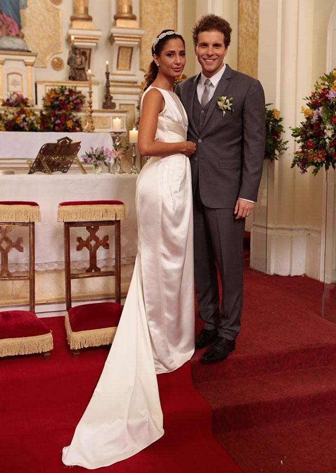Casal lindo e feliz!  (Foto: Felipe Monteiro/Gshow)