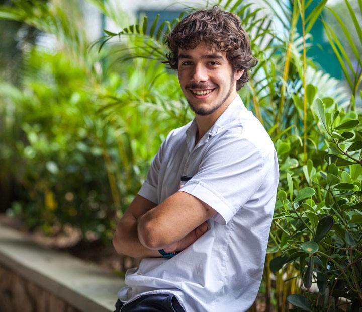 Vitor Novello vive Luan em 'Malhação' (Foto: Fabiano Battaglin/Gshow)