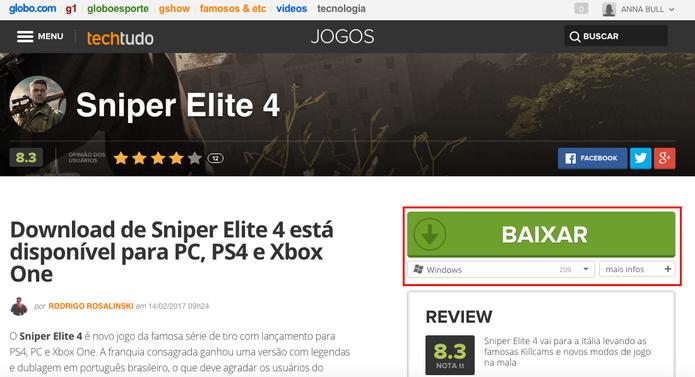 Baixe Sniper Elite 4 para PC (Foto: Reprodução/Anna Kellen Bull)