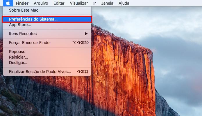 Acesse as configurações gerais do seu Macbook (Foto: Reprodução/Paulo Alves)