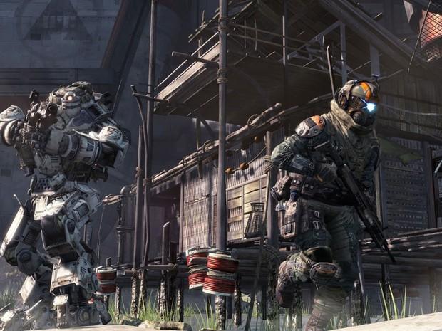 O novo 'Titangall', dos criadores de Call Of Duty, foi anunciado na E3 2013. (Foto: Divulgação/EA)