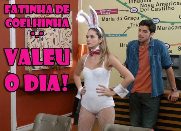 Fatinha de coelhinha (Foto: Malhação / TV Globo)
