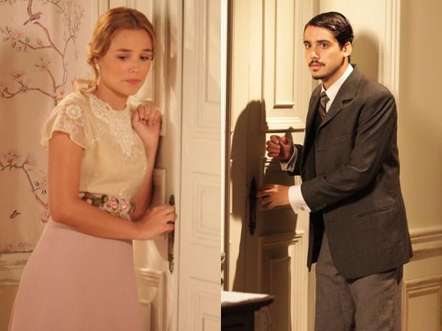 Jonas pede Alice em casamento (Foto: Lado a Lado/TV Globo)