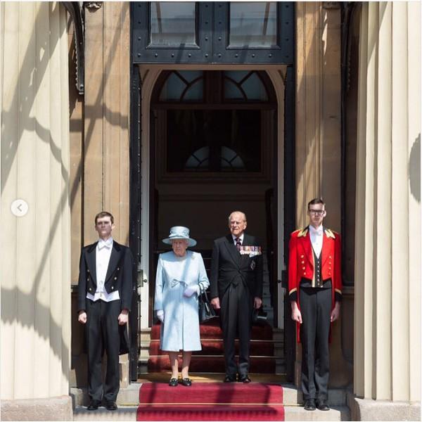 A rainha Elizabeth e o princípe Philip (Foto: Reprodução Instagram)