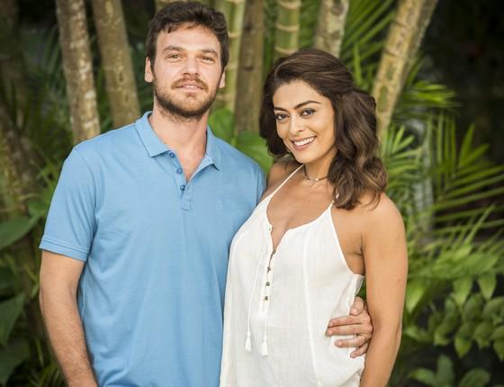 Na trama Bibi (Juliana Paes) é casada com o ambicioso Rubinho (Emílio Dantas) (Foto: TV Globo)