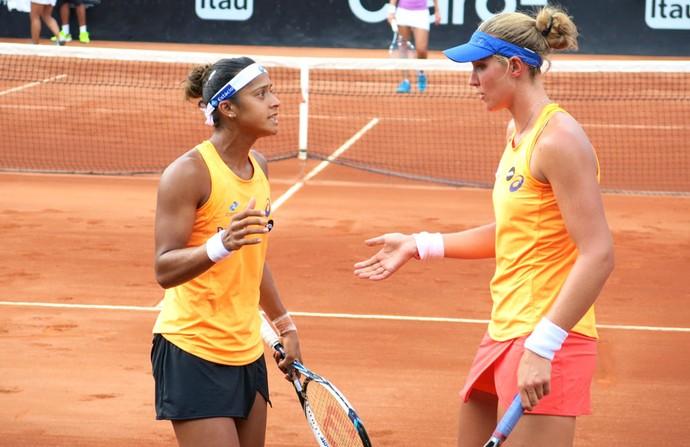Tenis Bia Haddad e Teliana (Foto: Thiago Quintella)