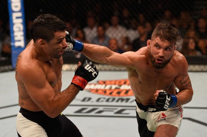 Jeremy Stephens e Renan Barão UFC (Foto: Getty Images)