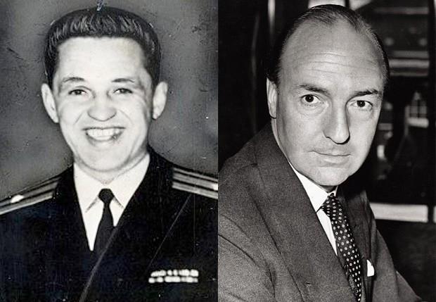 O diplomata russo Yevgeny Ivanov e o Secretário de Estado da Guerra do governo britânico John Profumo (Foto: Reprodução)