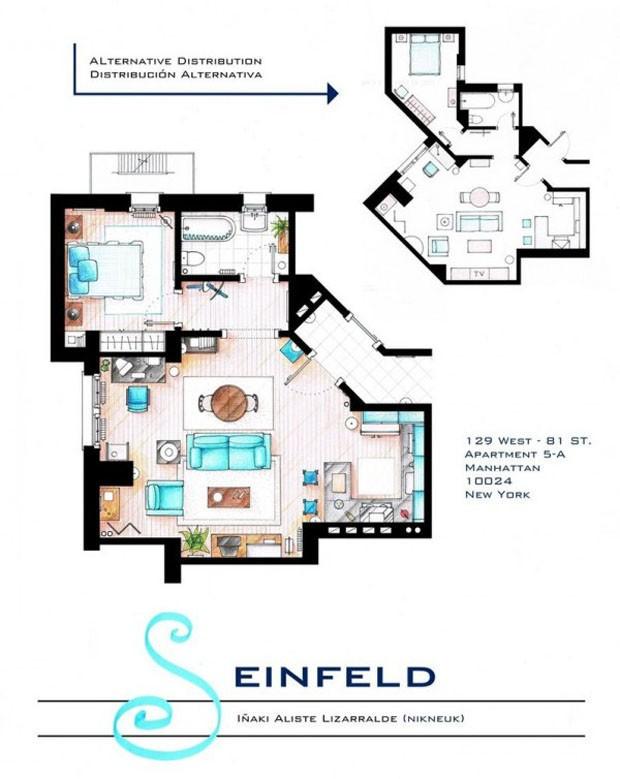 O apartamento de Jerry Seinfeld, da série Seinfeld (Foto: Nikneuk)