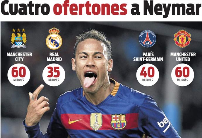Ofertas por Neymar (Foto: Reprodução / Sport)