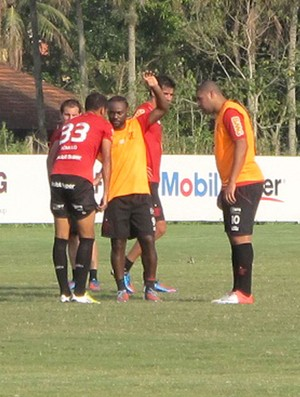 Vagner Love e Adriano, Flamengo (Foto: Richard Souza / Globoesporte.com)