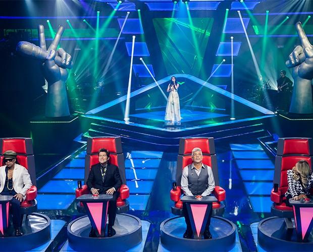 Carla Casarim palco - Audição 1 (Foto: Isabella Pinheiro/TV Globo)